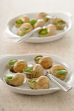 Snails stuffed with garlic and parsley Royalty Free Stock Photo