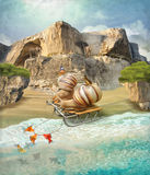 Snails on vacation Royalty Free Stock Photo