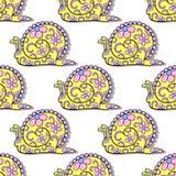 SnailsPattern Royalty Free Stock Photography
