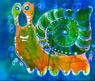 snailyellow Royaltyfria Bilder