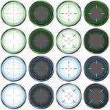 Snajperskiego zakresu celu Kolorowy set Fotografia Stock