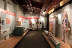 Snak onderwijsvertoning van Amerikaanse en Buitenlandse oorlogen, het Militair Museum van de Staat van New York en VeteranenOnder Stock Afbeeldingen