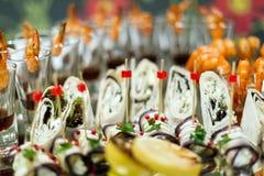 Snakcs di nozze Fotografie Stock