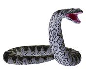Snake 1. 3D render of a big snake Stock Photo