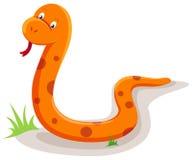 Snake. Illustration of isolated snake on white background royalty free illustration