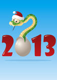 Snake 2013. The little snake, borning from the egg Royalty Free Stock Image