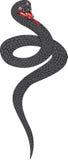 Snake. Vector illustration black snake eps 8 Stock Image