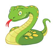Snake. A cartoon vector illustration of a green snake stock illustration