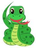 Snake. Cartoon snake isolated on white vector illustration