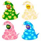 Snake. Colorful illustrations of the zodiac of snake 2013 Stock Photo