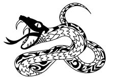 Snake. Tattoo illustration as vector image Stock Photo