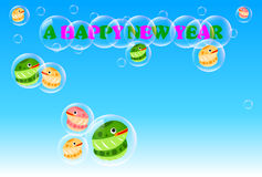 Snake. Illustration of cute snake New Year Royalty Free Illustration
