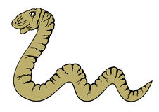 Snake. Vector crawling yellow snake isolated Royalty Free Stock Photography
