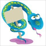 Snake. Chinese zodiac - illustration of chinese traditional birthday animal Stock Photos