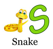 Snake with alphabet Royalty Free Stock Images