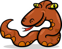 Snake animal cartoon illustration Royalty Free Stock Images