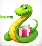 Snake, animal in the Chinese zodiac, Chinese calendar. Vector icon Royalty Free Stock Photography