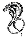 Snake as symbol of 2013. The vector image of a snake in black color Stock Image