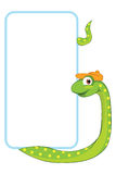 Snake. Baby animal banner Royalty Free Stock Images
