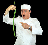 Snake Bean Chef Royalty Free Stock Image