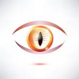 Snake, beast eye. Abstract glossy shape Royalty Free Stock Photography