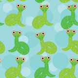 Snake  on a blue background seamless pattern. Royalty Free Stock Photography