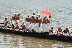 A Snake Boat race team do rehearsal Stock Image