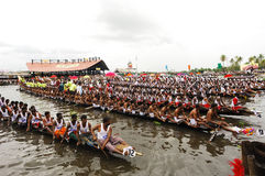 The snake boat races of Kerala Royalty Free Stock Image
