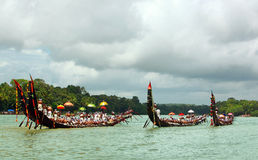 Snake  Boat races of Kerala Royalty Free Stock Images
