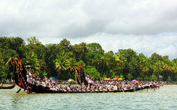 Snake Boat races of Kerala stock photos
