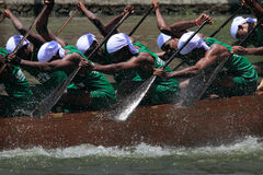 Snake boat team Royalty Free Stock Image