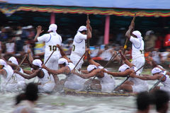 Snake boat teams Stock Images