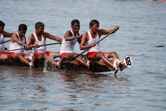 Snake boat teams participate in the Nehru Trophy Boat race Stock Image