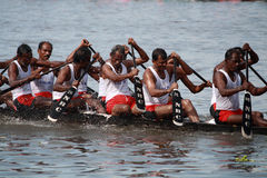 Snake boat teams participate in the Nehru Trophy Boat race Stock Photo