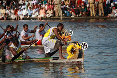 Snake boat teams participate in the Nehru Trophy Boat race Royalty Free Stock Photography
