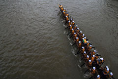Snake boat teams Stock Photo