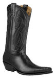 Snake Boots. A black snake leather boot Royalty Free Stock Photos