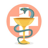 Snake and bowl Stock Images