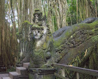 Snake Bridge in the Sacred Monkey Forest in Bali Indonesia Royalty Free Stock Photography