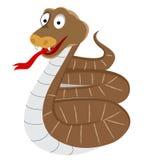 Snake. Brown color Snake cartoon illustration design stock illustration