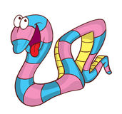 Snake cartoon illustration Stock Photography