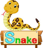 Snake cartoon. Illustration of  cute snake cartoon Royalty Free Stock Image