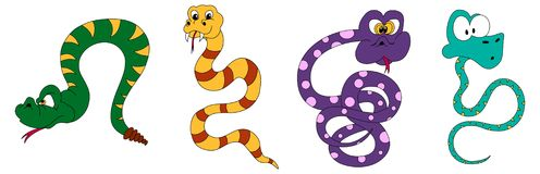Snake cartoons Royalty Free Stock Images
