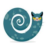 Snake cat. Fantastic, mythical pet. Cute dreamlike beast Head ca Royalty Free Stock Photos