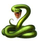 Snake. Character illustration reptile venomous serpent striking Stock Images