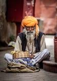 Snake charmer. Photo street snake charmer. India Royalty Free Stock Photos