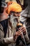 Snake charmer. Photo street snake charmer. India Royalty Free Stock Image