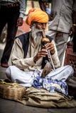 Snake charmer. Photo street snake charmer. India Royalty Free Stock Photo