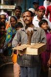 Snake Charmer. On the streets of Old Dhaka, Bangladesh Stock Image