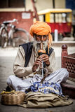 Snake charmer. Photo street snake charmer. India Stock Photography